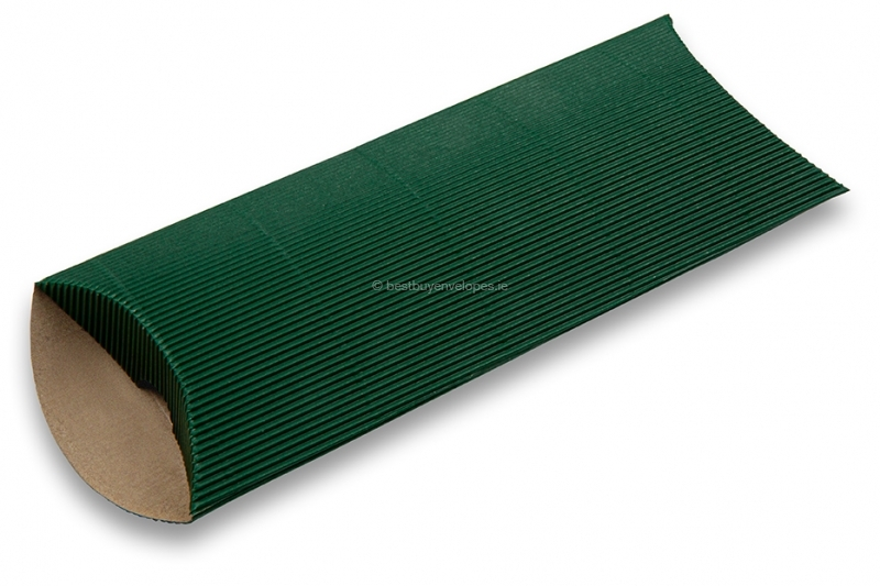 Dark green coloured ribbed pillow boxes