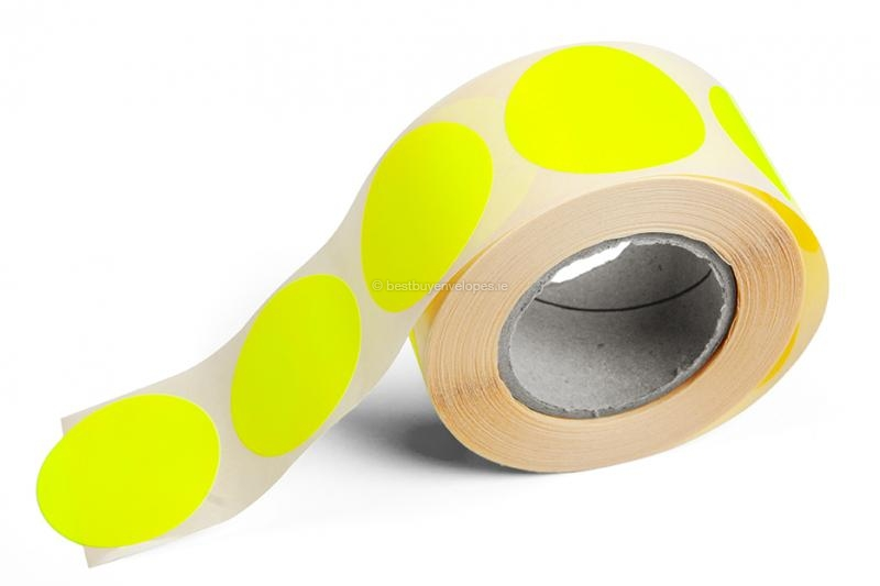 Round coloured labels - Yellow