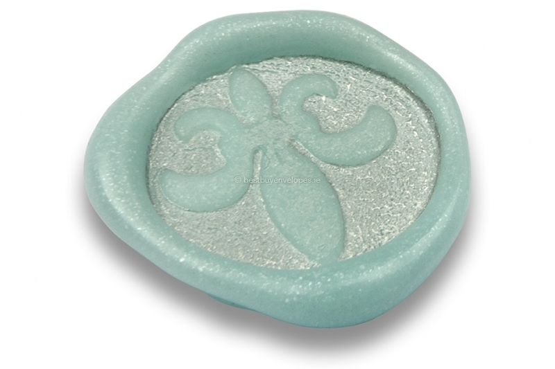Wax seals - French lily light blue