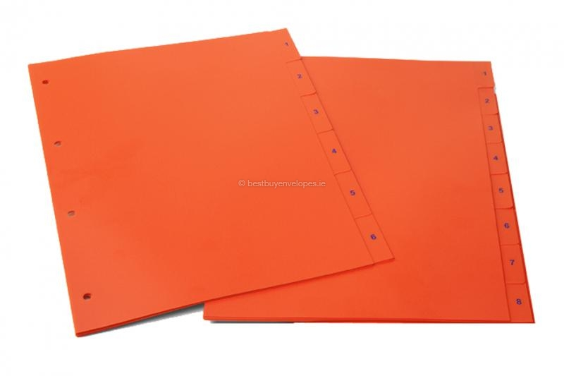Orange-red dividers