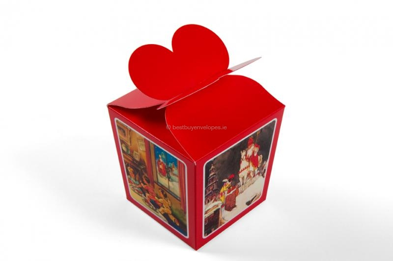 St Nicholas gift boxes, red