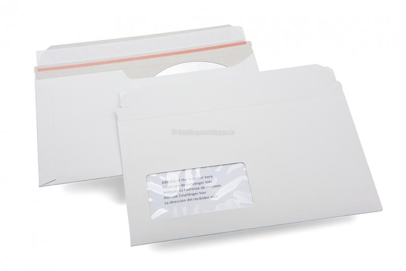 Cardboard envelopes with multimedia pocket - CD/DVD envelope with window