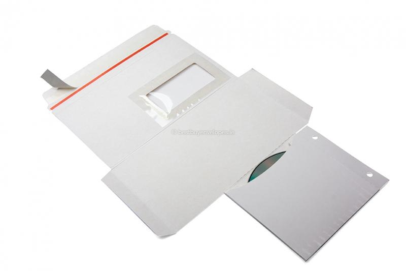 Cardboard envelopes with multimedia pocket - folded outwards (photo 1 of 4)