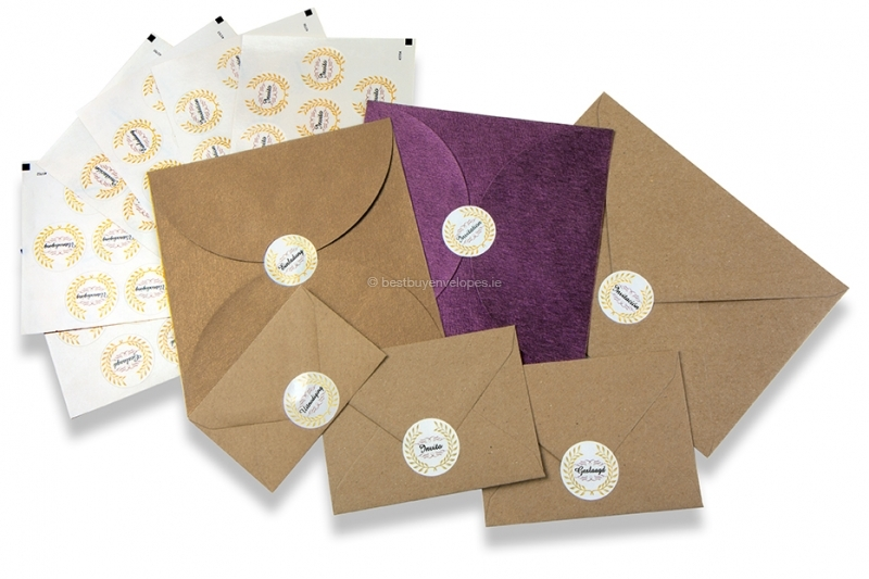 Party envelope seals - various