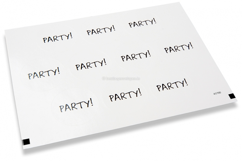 Party envelope seals - party!