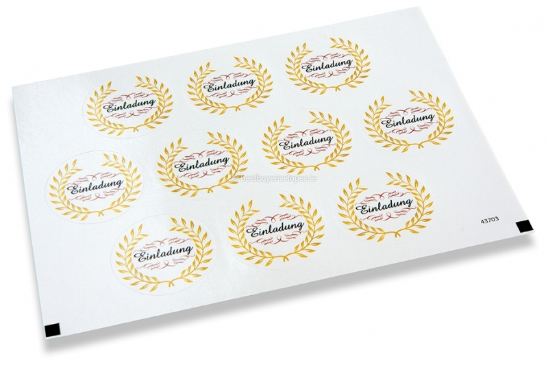 Party envelope seals - einladung