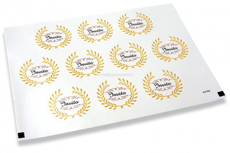 Party envelope seals - invito
