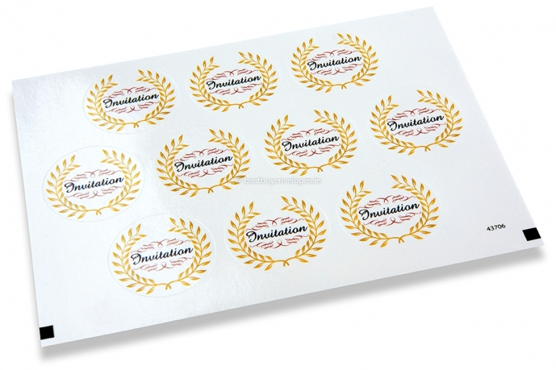 Party envelope seals - invitation