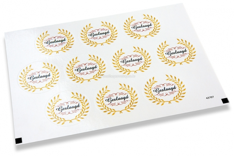 Party envelope seals - geslaagd