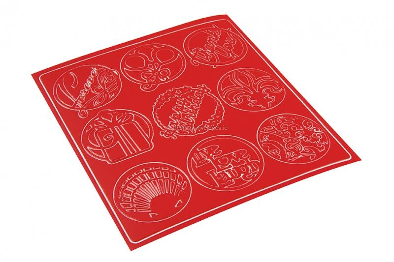Party peel-off stickers - red