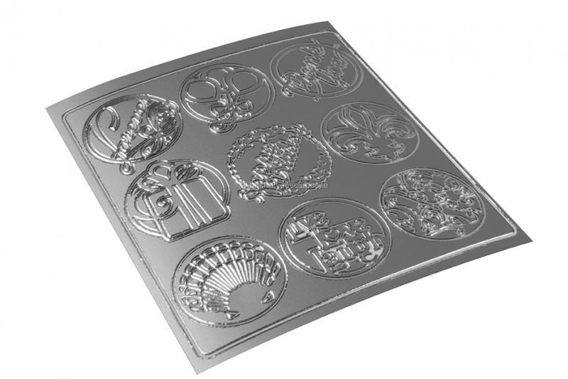 Party peel-off stickers - silver
