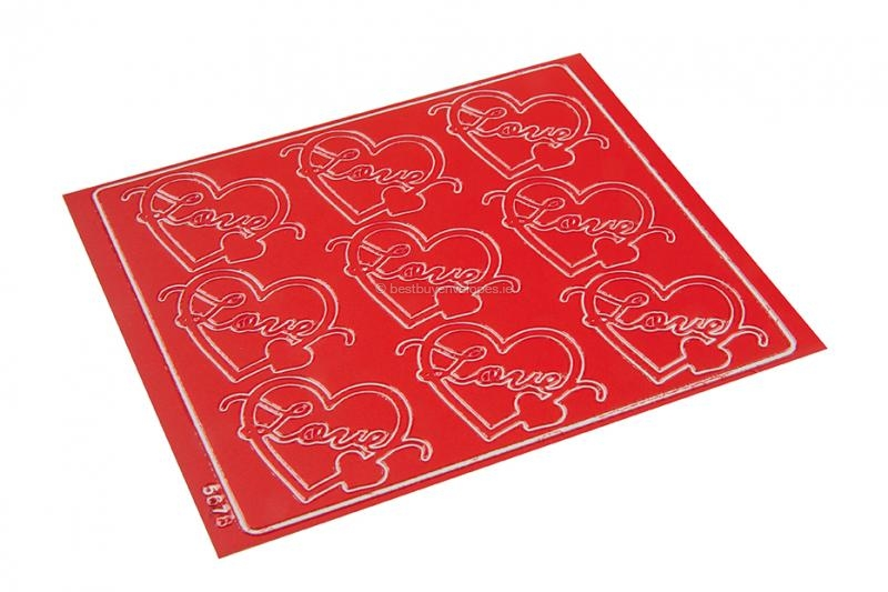 Love peel-off stickers - red